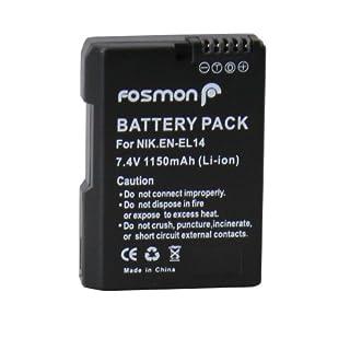Fosmon 7.4V 1500mAh Fully Decoded Replacement Battery Nikon EN-EL14 DSLR for Nikon Camera Models COOLPIX P7000 / P7100 / P7700 / D3100 / D3200 / D5100 / D5200 - Fosmon Retail Packaging (B00C27YAFK)   Amazon price tracker / tracking, Amazon price history charts, Amazon price watches, Amazon price drop alerts
