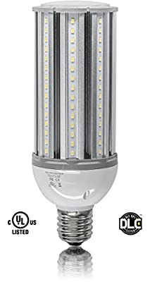 45W LED CORN LIGHT BULB 5500K Replaces 175W HID, 5,400 lumens Mogul Base E39, 100-277V AC UL/cUL DLC