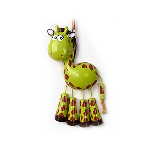 Personalized Forest Animals Christmas Ornament for Tree 2018 - Cute Brown Ivory Giraffe Dangling Legs - Zoo Collection Adventure Toys Kingdom Costume Africa Sophie Nursery -Free Customization by (Sophie The First Costume)