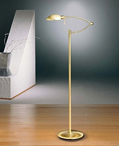 Holtkotter Satin Nickel Floor Lamp - 6450P1 Dimm-System Reading Lamp - 110 - 125V (for use in the U.S., Canada etc.), satin nickel