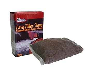 Lava Filter Stone para acuario, 500 g – Fragmentos filtrantes de piedra volcánica