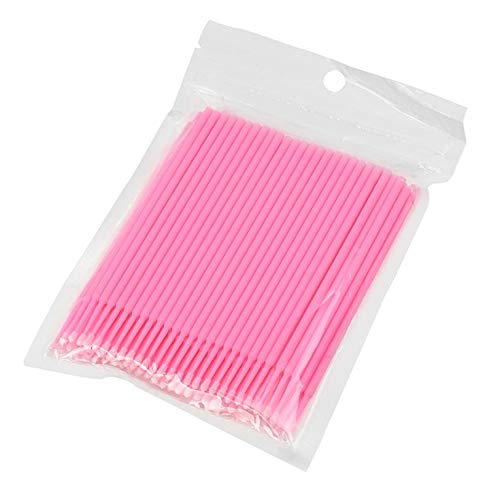 Disposable Micro Applicator Brushes for Eyelash Extensions Tattoo 100 Pcs – Pink
