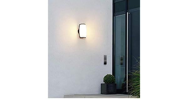 MRXUE LED lámpara de Pared Impermeable al Aire Libre Europea Minimalista balcón al Aire Libre lámpara de Pared jardín luz 220V,Warmlight,14W: Amazon.es: Hogar