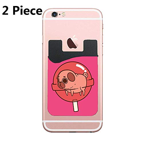 Lollipop Cell Phone Card Holder, Stick On Wallet for Back of Phone, for iPhone, All Smartphones - 2Pack