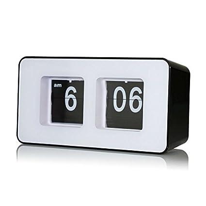 digital office clocks decorative lcyyo creative cube digital retro auto flip clock file down page clocks desk wall amazoncom