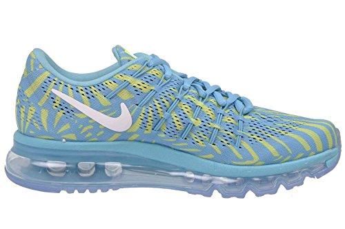 Nike Womens Air Max Scarpe Da Corsa Sneakers Gamma Blu / Bianco - Fantasma Verde