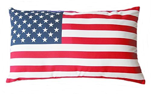 American Flag Fourth of July Patriotic Indoor Outdoor Pillow Cover