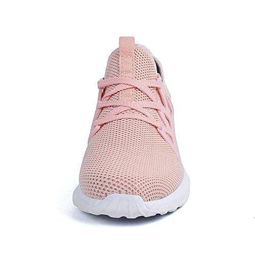 Rosa QANSI Sneaker Sportschuhe Atmungsaktiv Laufschuhe Herren Wanderschuhe Damen Leichte Z8qS8x4w