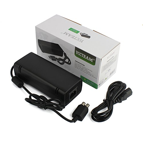 Xbox 360 Slim Power Supply, YCCSKY AC Adapter Power Supply Charger Brick with Cable for for Xbox 360 Slim by YCCSKY