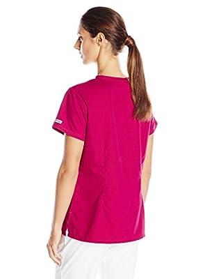Grey's Anatomy Women's 3 Pocket V-Neck Tonal Stitch Scrub Top