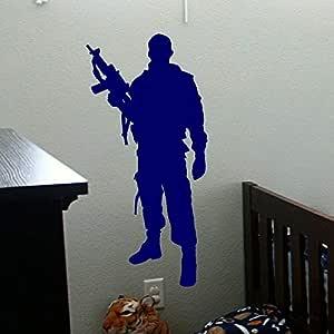 Ejército militar Soldado Etiqueta de La Pared Pistolas Tatuajes de ...