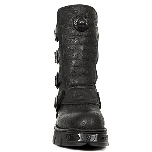 Negro New Botas Motero M Rock Adulto Estilo 373x Unisex s25 Rock New AFPUAx