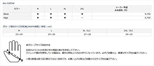 ダイワ(Daiwa)防寒ジギンググローブDG-7205WブラックM
