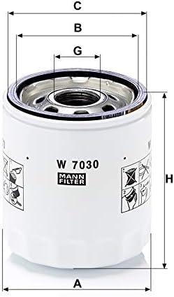 Original Mann Filter Ölfilter W 7030 Für Pkw Auto