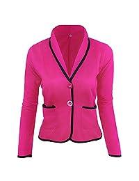 Women Blazer Formal Business Office Work Coat Suit Long Sleeve Slim Jacket Outwear