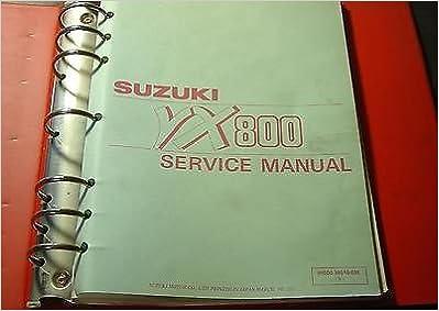 1990 SUZUKI MOTORCYCLE VX800 SERVICE MANUAL BINDER P/N 99500