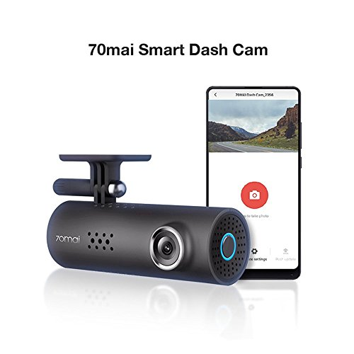 70mai Dash Camera for Cars, 1080P, 130° Wide Angle, Built-in WiFi Dash Cam, Emergency Recording, APP Control Dashboard, Car Camera Recorder with Night Vision, G-Sensor, Car DVR