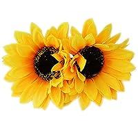 Patiky Sunflower Hair Clips for Women Girls Non Slip Alligator Clips Hairpin TS08 (2pcs Sunflower Hair Clips)