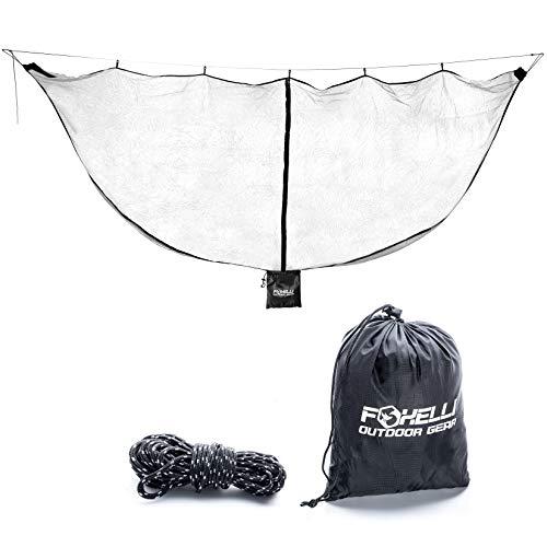 Foxelli XL Hammock Net - 12ft Net for Hammocks, Lightweight Portable Hammock Netting, Fast and Easy Set Up, Fits All Camping Hammocks