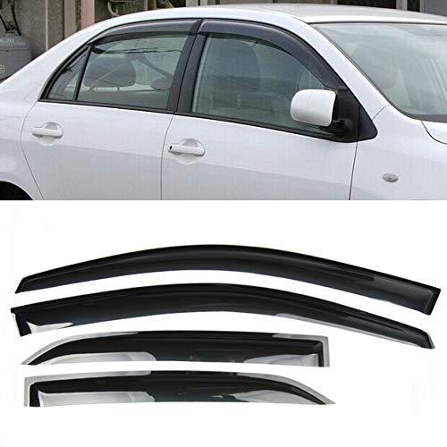 4 Pcs New Smoke Black Seden Side Vent Window Visors Defector Rain Sunshading Guard For Toyota Corolla 2009 2010 2011