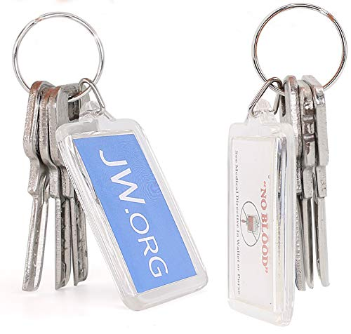 Rectangle Jw org No Blood Double Sided Key Chain Jehovah's Witnesses  Accessory 10 Pack