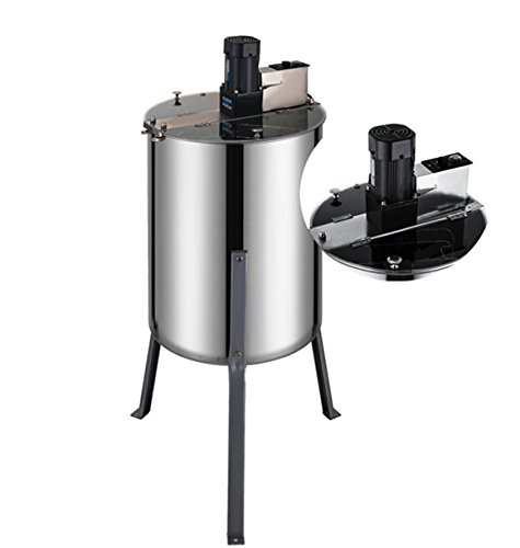 BestEquip Electric Honey Extractor 4 Frame Bee Extractor Stainless Steel Honey Spinner with Stand Beekeeping Equipment