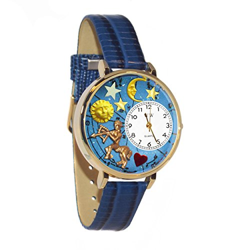 Whimsical Watches Unisex G1810010 Sagittarius Royal Blue Leather Watch