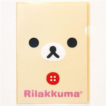 Carpeta plástico kawaii A4 osos Rilakkuma de San-X: Amazon.es: Juguetes y juegos