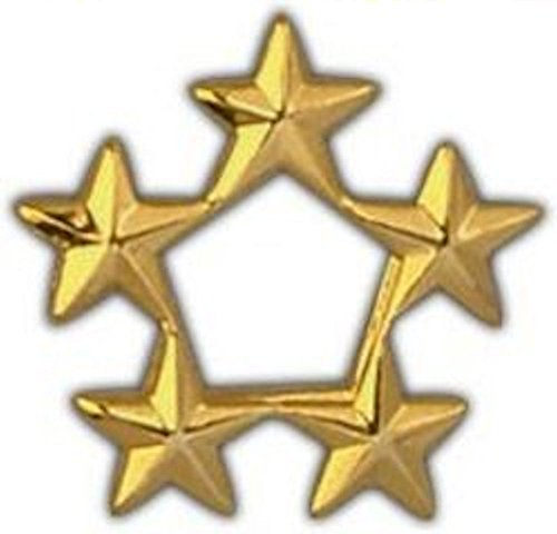 Hat Gold Military Pin (5 Star General Gold Large Pin)