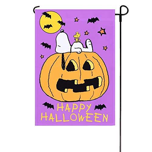Peanuts Happy Halloween Garden Flag 12inX18in]()