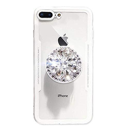 Kimkoala Carcasa para iPhone XS MAX, para iPhone XS MAX Protectora, Cubierta Trasera Transparente Diamond Airbag Holder Case...