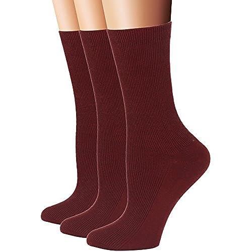 Rambutan Men Seamless Cotton No Show Short Sport Socks 3 PACK Red Navy Green