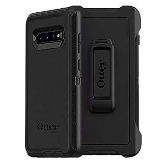 OtterBox DEFENDER SERIES Case for Galaxy S10+ - Retail Packaging - BLACK (Renewed)