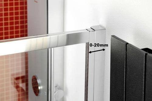 Cabina de ducha 150 x 70 cm, mampara 150 x 70 x 200 cm (BxH), Puerta corredera con aspecto templado de pared, 3 piezas, 8/6 mm, Elox: Amazon.es: Bricolaje y herramientas