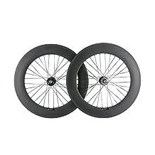 Sunrise Bike Carbon Single Speed Bike Wheelset Clincher 88mm Track Bike Rim with Matte Finish