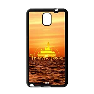 ROBIN YAM Disney Forever Young Samsung Galaxy Note 3 Hard TPU Rubber Coated Phone Case Cover -HRY467