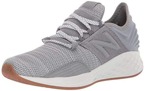 New Balance Boys' ROAV V1 Fresh Foam Running Shoe, Gunmetal/White, 5 M US Big Kid