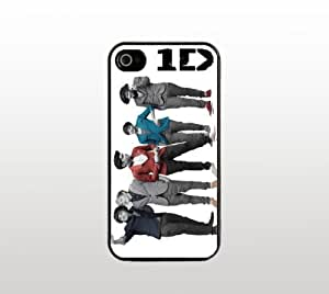 One Direction Snap-On Case for Apple iPhone 4 4s - Hard Plastic - Black - Cool Custom Cover - 1D