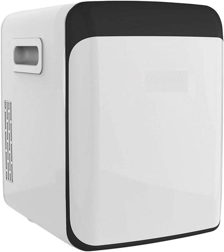 BIYLL Portable Cooler, 10 Liter Compact Portable Cooler Warmer Mini Fridge for Bedroom, Office, Dorm, Car - Great for Skincare & Cosmetics (110-240V/12V), Classic White.