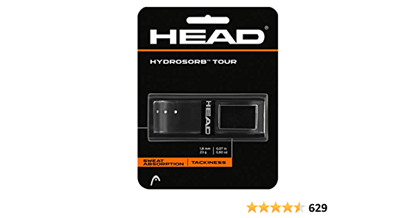 Head Hydrosorb RACQUETBALL Replacement Grip BLACK,One Set