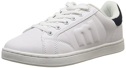 MTNG 69680 - Zapatillas de deporte unisex ACTION LEATHER PU BLANCO / SERRAJE PU MARINO