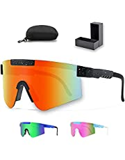 Polarized Sports Sunglasses with UV protection & extra accessories for cycling and Outdoor sports Activities men and women