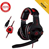 NUBWO Gaming Headset, Over Ear Stereo Gaming...