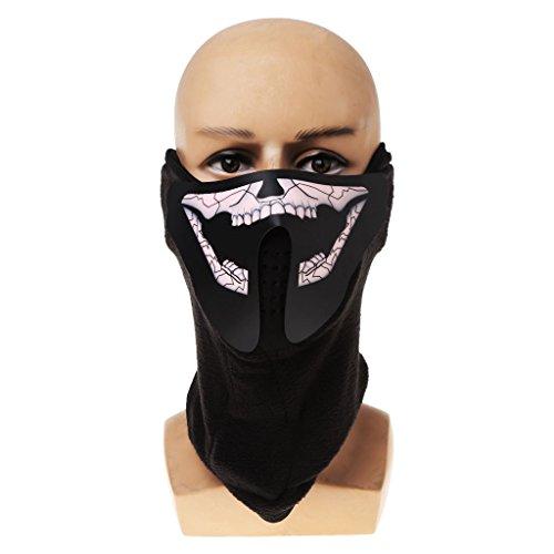 JUA PORROR Halloween Led Mask- Luminous Skull Mask Maske Masque Horreur Decoration Craft Supplies (17) -