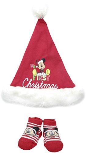 - Disney Baby-Boys Newborn Mickey My First Christmas Set, Red, 0-12 Months