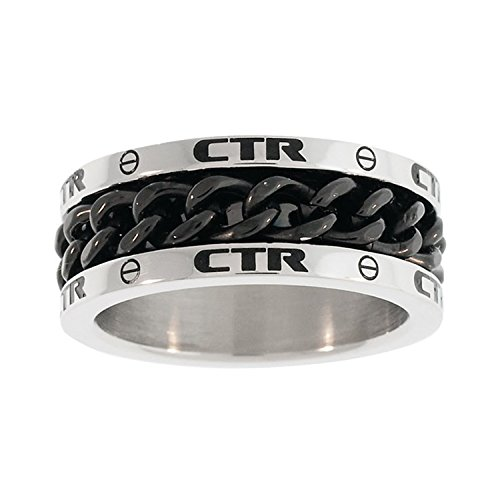 CTR Ring Stainless Steel w/Black