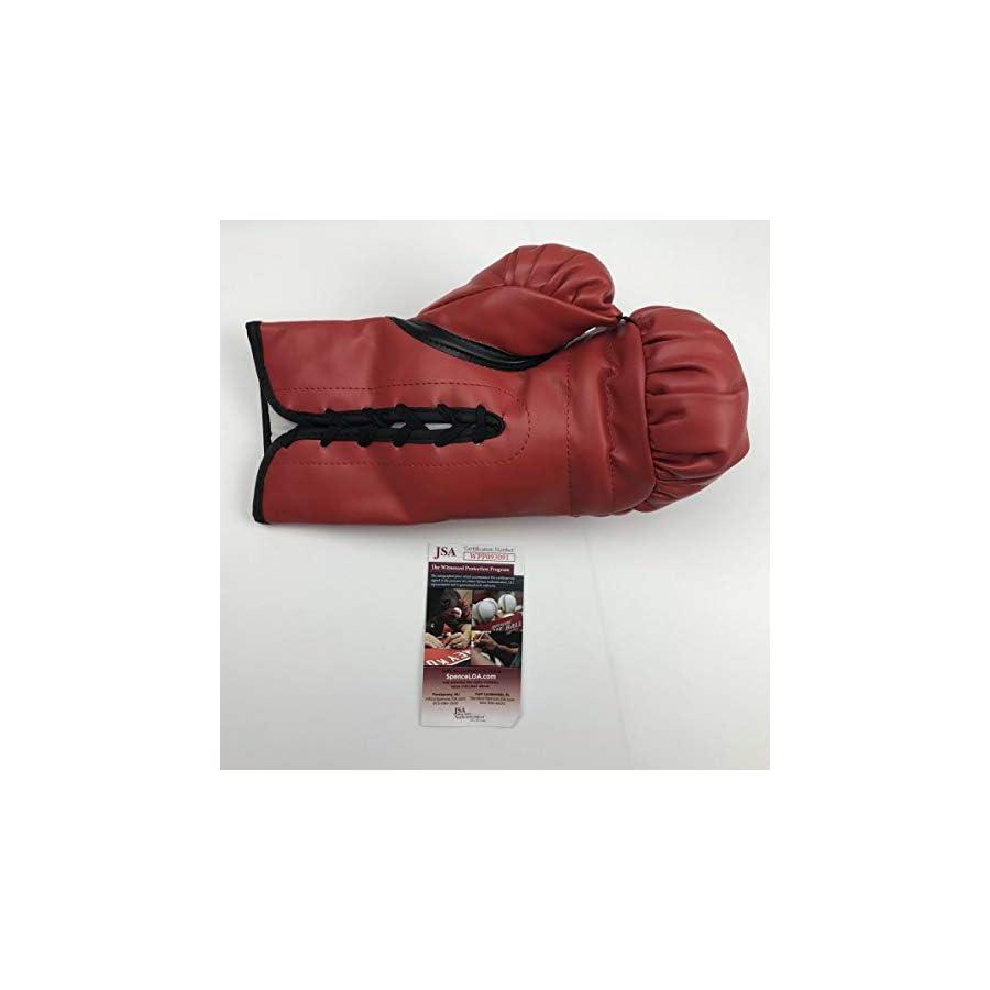 Autographed/Signed Roy Jones Jr. Red Everlast Boxing Glove JSA COA Auto