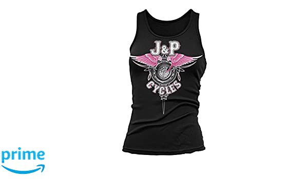 Black, X-Large Lethal Threat JP60204XL Womens Black Wing Pinstripper Tank Top