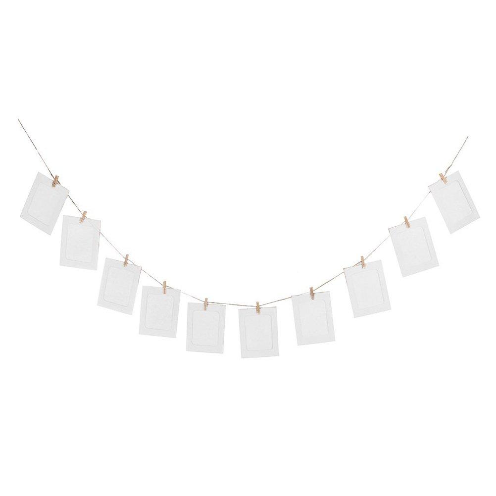 STONCEL - Set de marcos para fotos de papel con pegatinas y pinzas ...