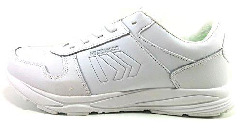 Zapatillas Hombre Memory Foam blancas Piel